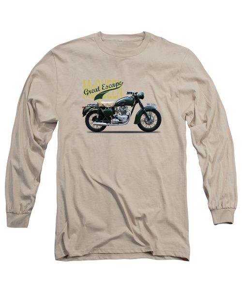 The Great Escape Motorcycle Long Sleeve T-Shirt by Mark Rogan