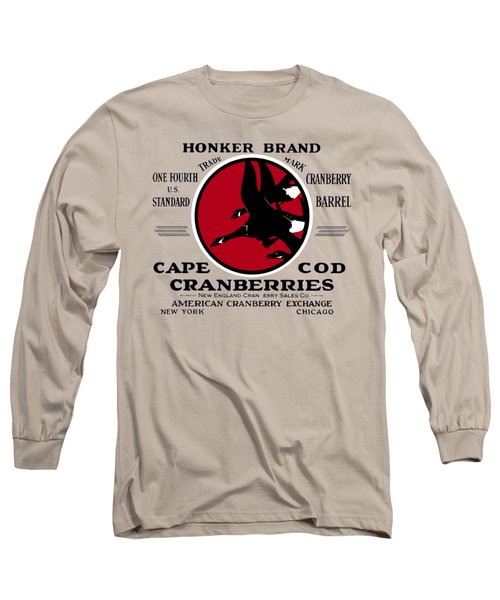 1900 Honker Cranberries Long Sleeve T-Shirt by Historic Image