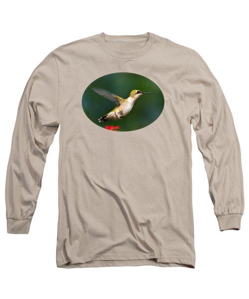 Summer Hummingbird Long Sleeve T-Shirt