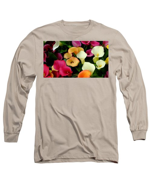 Long Sleeve T-Shirt featuring the photograph Arum Lilies by August Timmermans