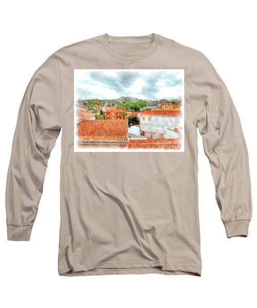 Arzachena Urban Landscape With Mountain Long Sleeve T-Shirt
