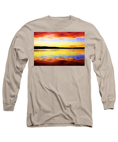As Above So Below - Digital Paint Long Sleeve T-Shirt