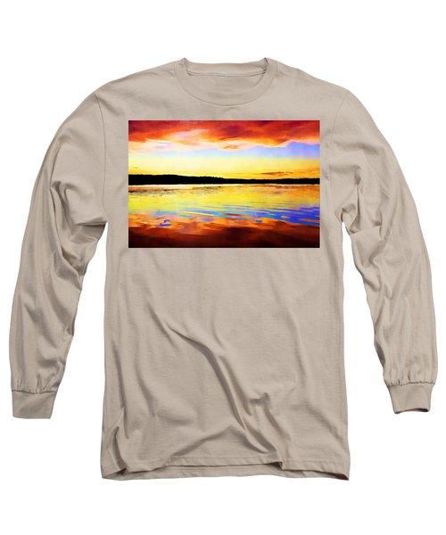As Above So Below - Digital Paint Long Sleeve T-Shirt