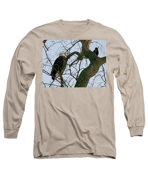 As The Eagle Looks On Long Sleeve T-Shirt by Sue Stefanowicz