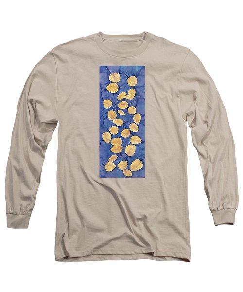 Aspen Leaves On Water Long Sleeve T-Shirt by Carolyn Doe