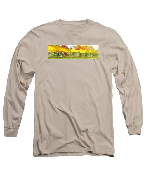 Aspen Trees In Autumn Long Sleeve T-Shirt