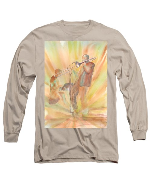 At One With The Music Long Sleeve T-Shirt by Debbie Lewis