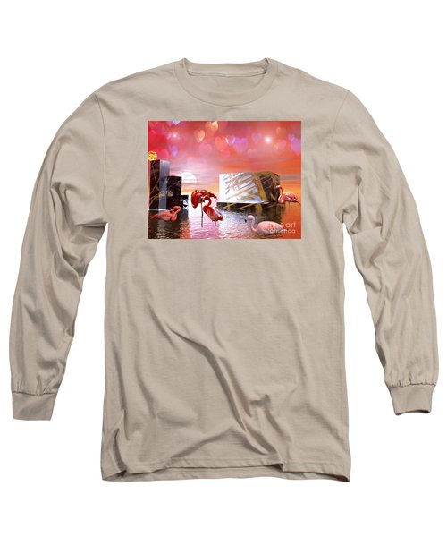 Long Sleeve T-Shirt featuring the digital art At Peace by Jacqueline Lloyd