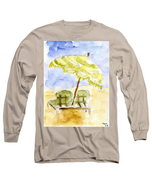 At The Beach Long Sleeve T-Shirt by Afinelyne