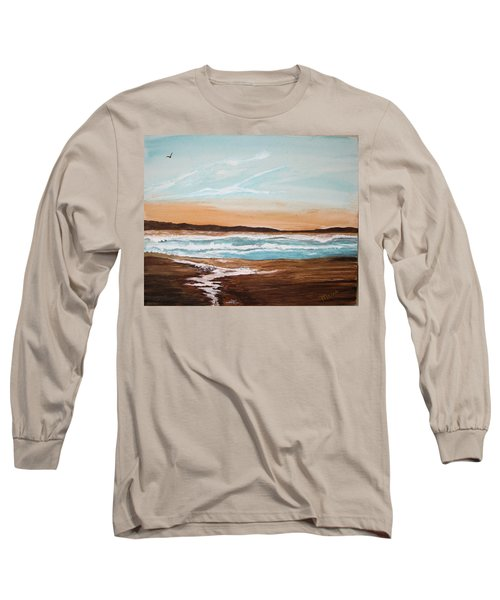 At The Beach Long Sleeve T-Shirt by Maris Sherwood
