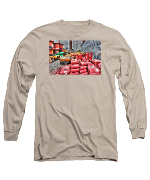 Long Sleeve T-Shirt featuring the pyrography Whsd At The Construction Site by Yury Bashkin