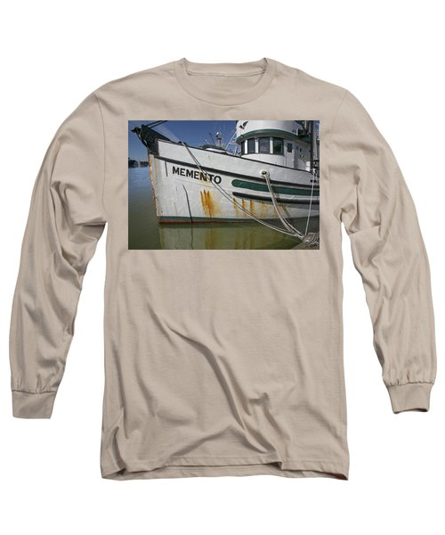 Long Sleeve T-Shirt featuring the photograph At The Dock by Elvira Butler