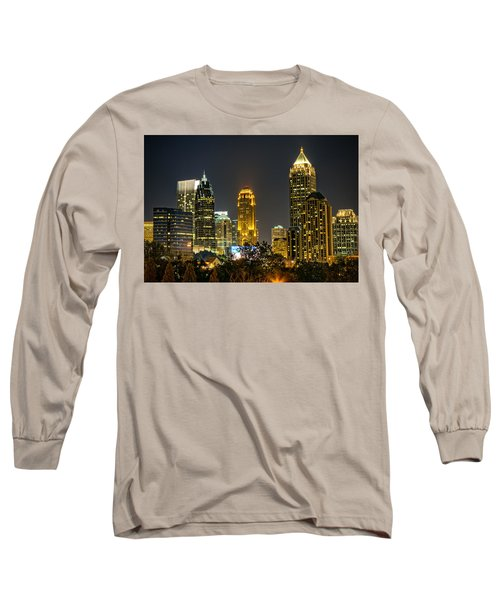 Long Sleeve T-Shirt featuring the photograph Atlanta Skyscrapers  by Anna Rumiantseva