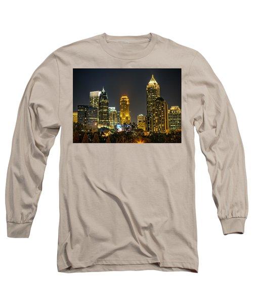 Atlanta Skyscrapers  Long Sleeve T-Shirt by Anna Rumiantseva