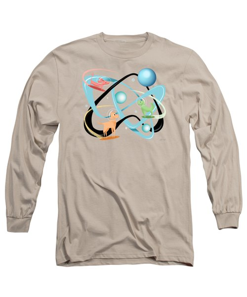 Atomic Rocket Powered Space Dogs Long Sleeve T-Shirt