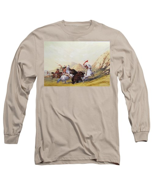 Attacking The Grizzly Bear 1844 Long Sleeve T-Shirt