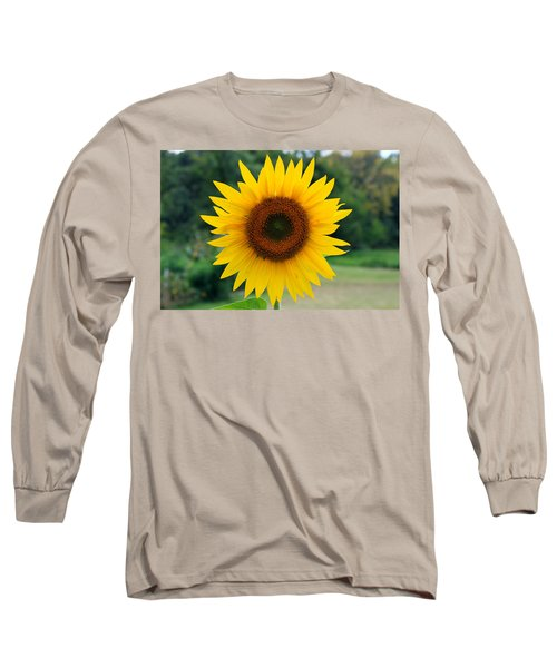 Long Sleeve T-Shirt featuring the photograph August Sunflower by Jeff Severson
