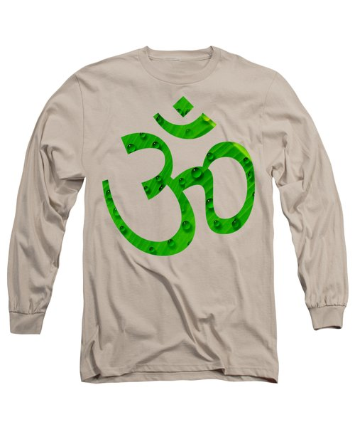 Aum Symbol Digital Painting Long Sleeve T-Shirt by Georgeta Blanaru