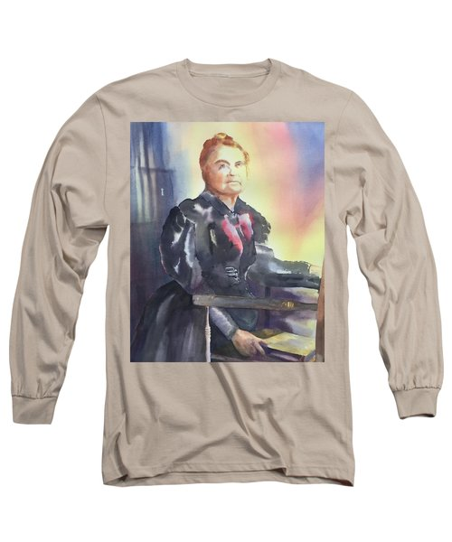 Aunt Carry A. Nation, Circa 1900 Long Sleeve T-Shirt by Tara Moorman