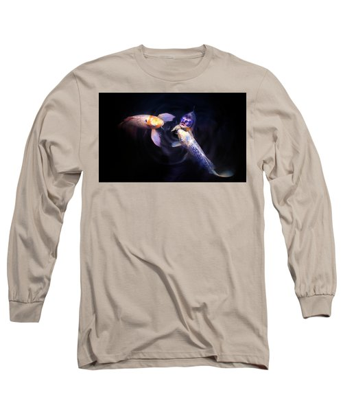 Auspicious Three Long Sleeve T-Shirt by John Poon