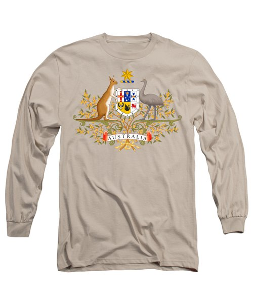 Long Sleeve T-Shirt featuring the drawing Australia Coat Of Arms by Movie Poster Prints