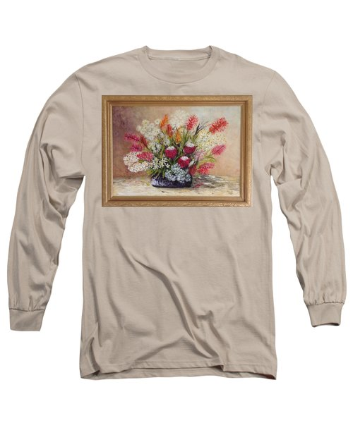 Long Sleeve T-Shirt featuring the painting Australian Natives by Renate Voigt