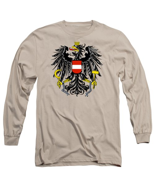 Long Sleeve T-Shirt featuring the drawing Austria Coat Of Arms by Movie Poster Prints