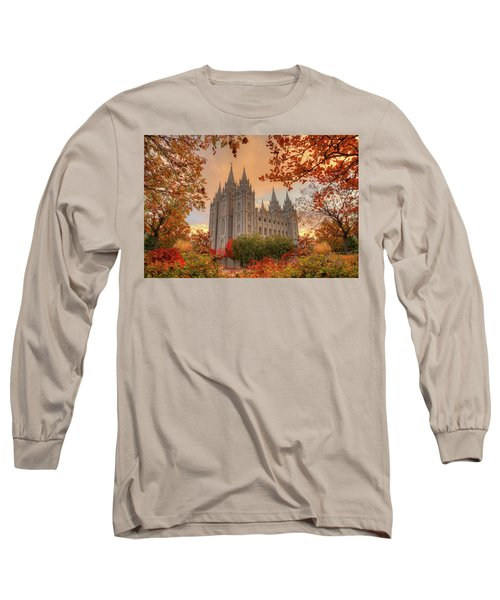 Autumn At Temple Square Long Sleeve T-Shirt