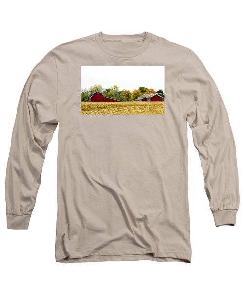 Autumn Barns Long Sleeve T-Shirt by Pat Cook