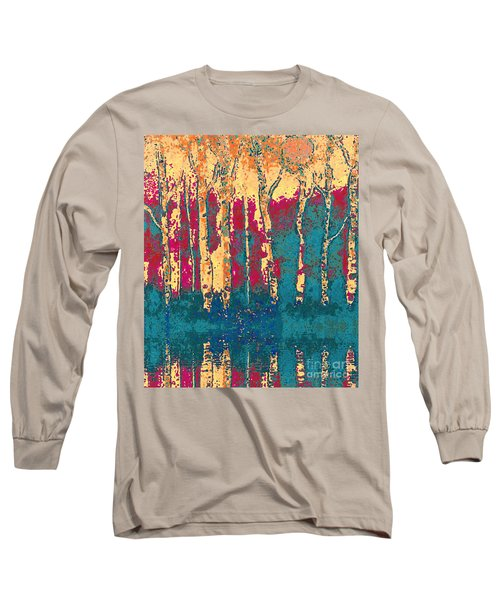 Autumn Birches Long Sleeve T-Shirt by Holly Martinson