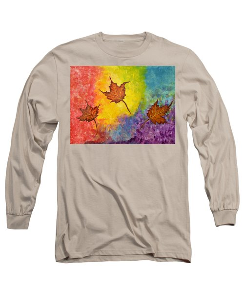 Autumn Bliss Colorful Abstract Painting Long Sleeve T-Shirt