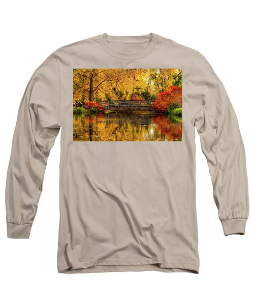 Autumn Color By The Pond Long Sleeve T-Shirt