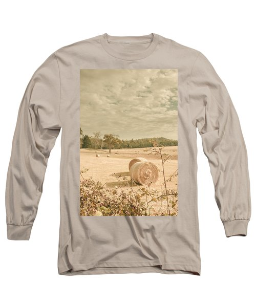 Autumn Farming And Agriculture Landscape Long Sleeve T-Shirt