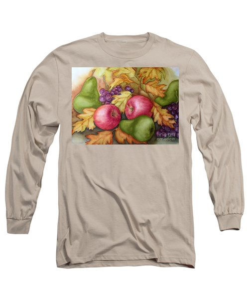 Autumn Fruit Still Life Long Sleeve T-Shirt