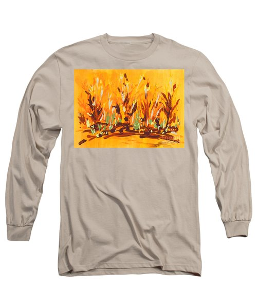Long Sleeve T-Shirt featuring the painting Autumn Garden by Holly Carmichael
