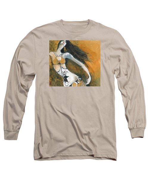 Autumn Golds Long Sleeve T-Shirt by Maya Manolova