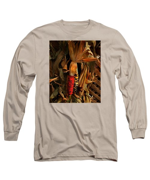 Autumn Harvest Long Sleeve T-Shirt by Kathleen Stephens