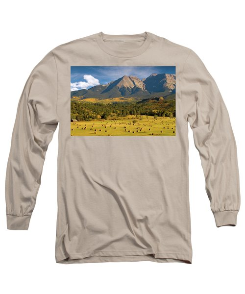 Autumn Hay In The Rockies Long Sleeve T-Shirt