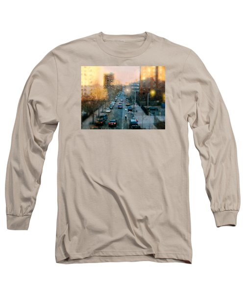 Autumn In Harlem Long Sleeve T-Shirt by Diana Angstadt