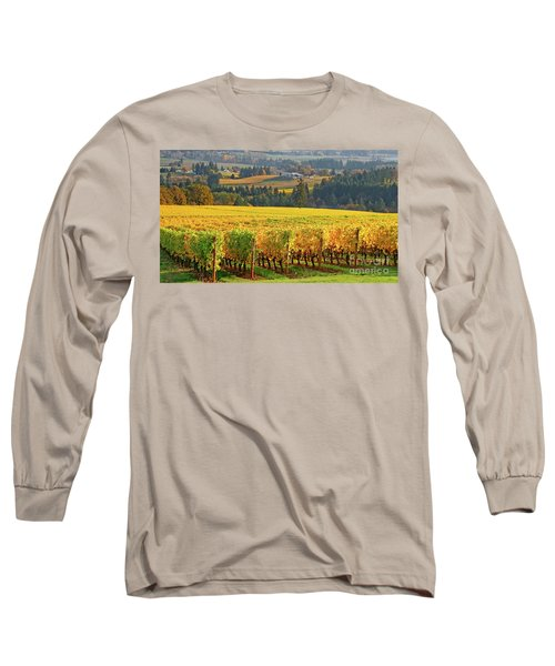 Autumn In Oregon Wine Country Long Sleeve T-Shirt