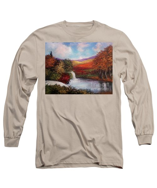 Long Sleeve T-Shirt featuring the painting Autumn In The Garden Of Eden by Randol Burns
