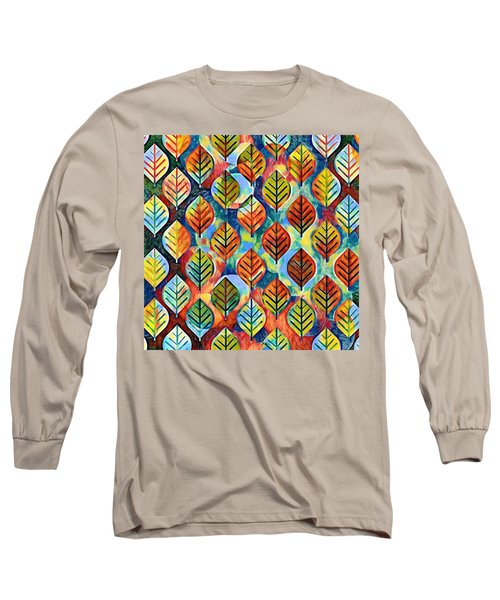 Autumn Leaves Abstract Long Sleeve T-Shirt