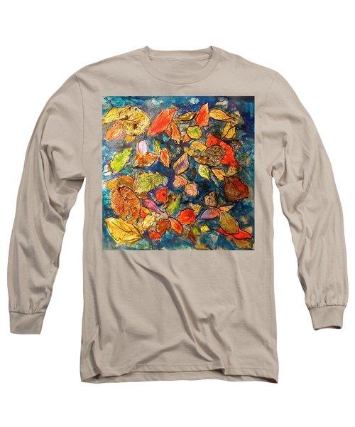 Autumn Leaves Long Sleeve T-Shirt by Barbara O'Toole