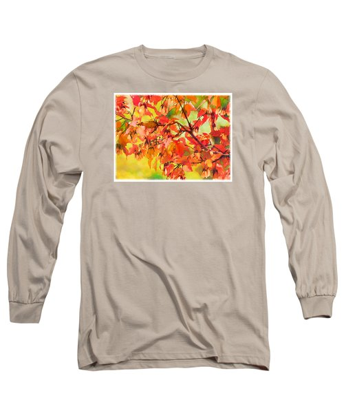 Long Sleeve T-Shirt featuring the digital art Autumn Leaves by Christina Lihani