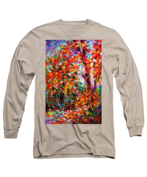 Autumn Leaves Long Sleeve T-Shirt by Helen Kagan