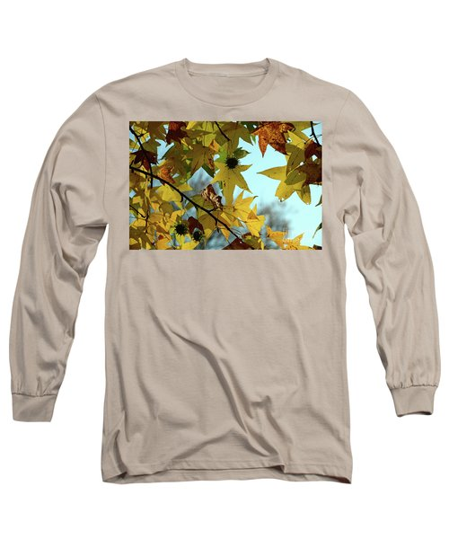 Autumn Leaves Long Sleeve T-Shirt by Joanne Coyle
