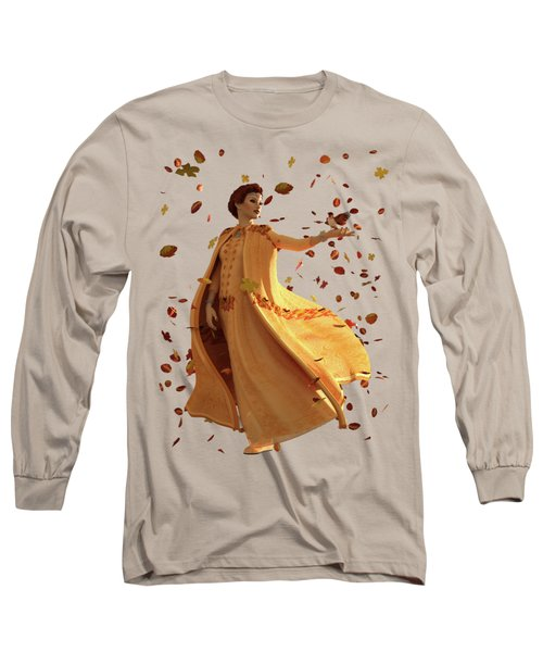 Long Sleeve T-Shirt featuring the digital art Autumn by Methune Hively
