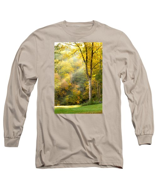 Autumn Morning Rays Long Sleeve T-Shirt by Brian Caldwell