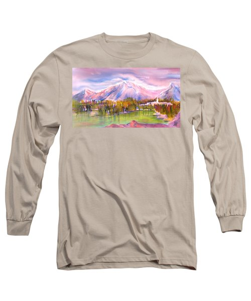 Autumn Mountain Scenery Long Sleeve T-Shirt