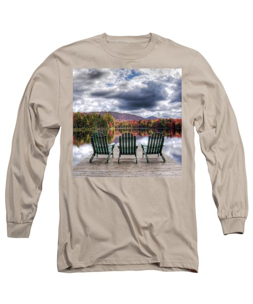 Long Sleeve T-Shirt featuring the photograph Autumn On West Lake by David Patterson